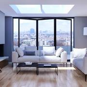 现代简约风格两居室精致客厅装修效果图