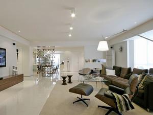 106平米现代简约风格精致三室两厅装修效果图赏析