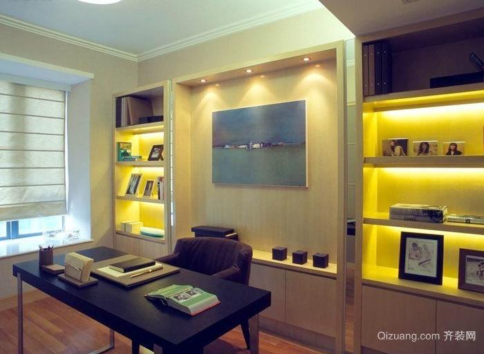 现代风格大户型室内精致书房设计装修效果图赏析