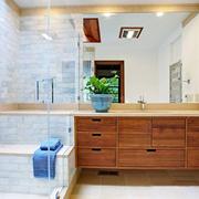现代风格精致卫生间浴室柜设计装修效果图赏析
