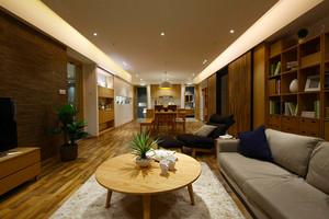 146平米简约新中式风格大户型室内装修效果图案例