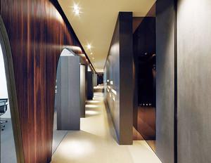 160平米现代风格办公室隔断设计装修效果图