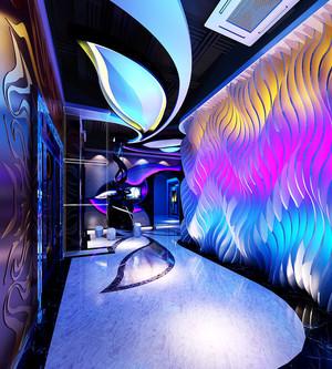 现代风格精致音乐酒吧过道吊顶设计效果图