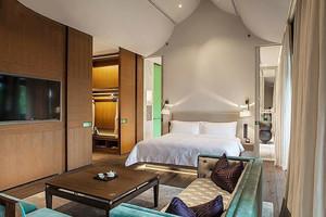 56平米现代风格酒店客房设计装修效果图