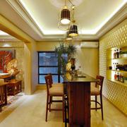 东南亚风格简约家装吧台设计装修效果图赏析