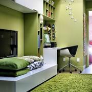 现代简约动感绿色儿童房装修效果图赏析