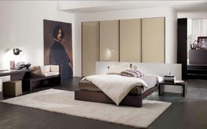 后现代风格极简冷色调卧室装修效果图大全
