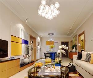 76平米混搭风格精致两居室装修效果图案例