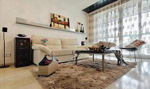 79平米简约风格精致两室一厅室内设计装修效果图