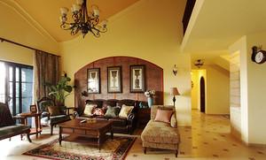 269平米美式乡村风格别墅室内装修效果图案例