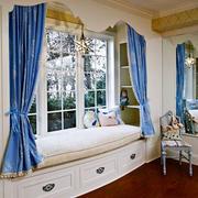 现代美式风格别墅室内精美飘窗设计装修效果图