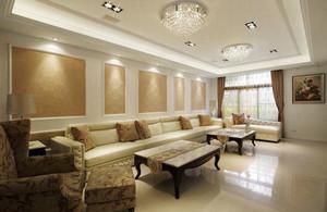 欧式风格精致大户型室内客厅吊顶设计装修效果图赏析