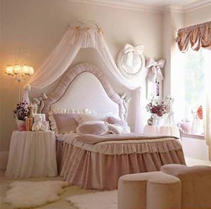 欧式风格浅粉色温馨儿童房设计装修效果图