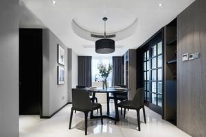 后现代风格冷色调精致餐厅设计装修效果图