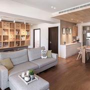 现代风格简约客厅书房一体设计装修效果图赏析