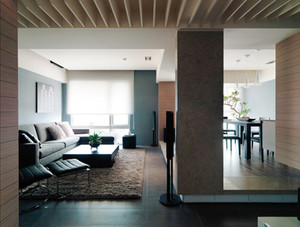 98平米现代风格精致小复式楼装修效果图案例