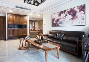 新中式风格大户型室内客厅装饰画装修效果图