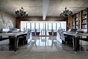 90平米现代风格精致办公室装修效果图