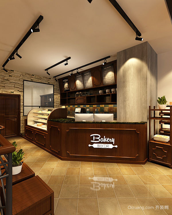 欧式风格精致面包店设计装修效果图
