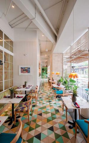 简约风格清新文艺咖啡厅装修效果图