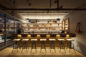 后现代风格精致酒店吧台设计装修效果图