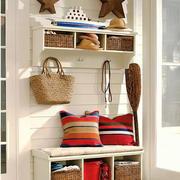北欧风格简约玄关鞋柜设计装修效果图