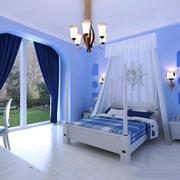 地中海风格精致大户型卧室背景墙装修效果图赏析
