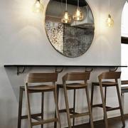 新中式风格大户型家装吧台设计装修效果图