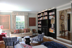 88平米时尚混搭风格两居室装修效果图案例