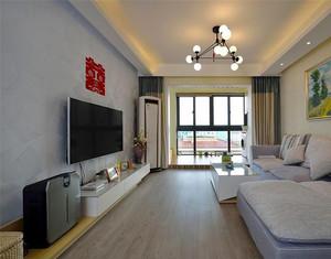 87平米现代风格精致婚房设计装修效果图案例