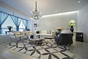 94平米简欧风格精致两室两厅一厨一卫装修效果图