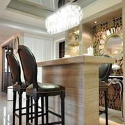 美式风格大户型室内家装吧台设计装修效果图