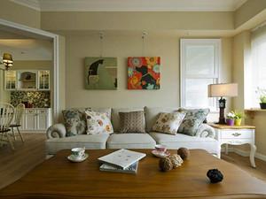 清新美式风格温馨三室两厅室内装修效果图赏析