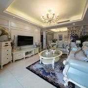欧式风格精致典雅客厅装修效果图赏析