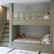 现代简约美式风格双层床儿童房装修效果图