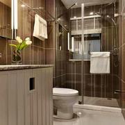 简欧风格精致卫生间淋浴房设计装修效果图