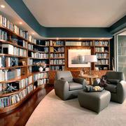 后现代风格大户型精致书房设计装修效果图赏析
