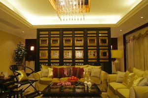120平米古典中式风格典雅室内装修效果图案例