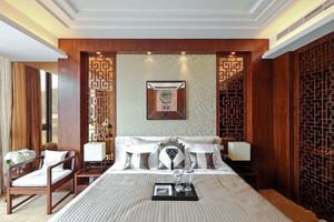 古典中式风格精致卧室背景墙装修效果图赏析