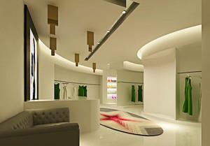 90平米现代简约风格服装店设计装修效果图