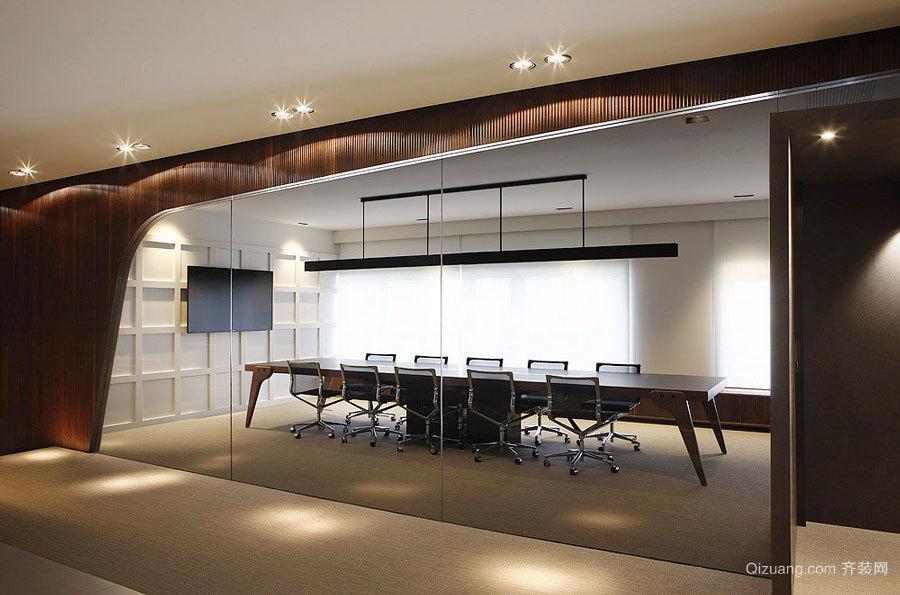 后现代风格创意办公室前台设计装修效果图