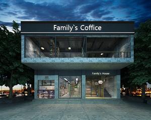 164平米美式风格咖啡厅设计装修效果图赏析