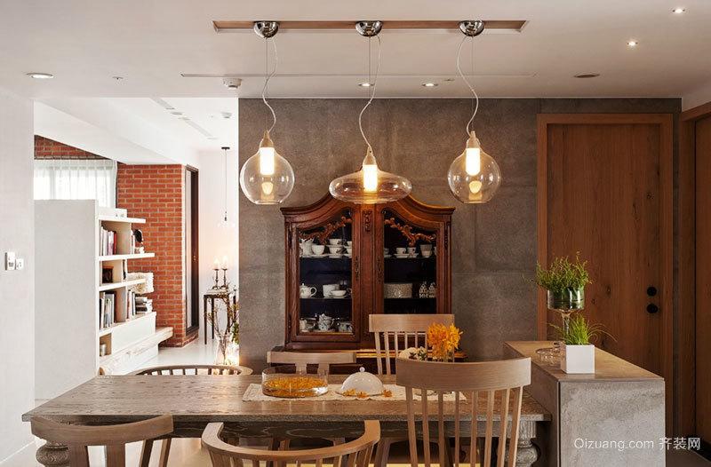 混搭风格精致创意餐厅吊灯设计装修效果图