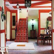 异域风情东南亚风格复式楼梯装修效果图