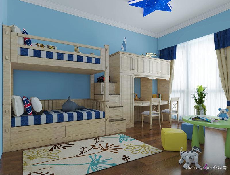 现代简约风格双层床儿童房装修效果图赏析