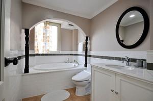 欧式风格纯白精致卫生间装修效果图赏析