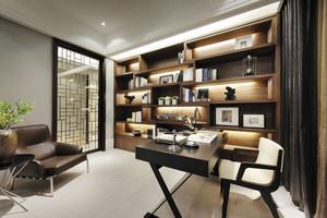 新中式风格简约书房设计装修效果图