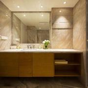 新中式风格简约卫生间浴室柜装修效果图赏析