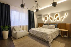 后现代风格简约卧室背景墙装修效果图