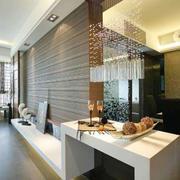 现代简约风格时尚创意客厅吧台装修效果图赏析